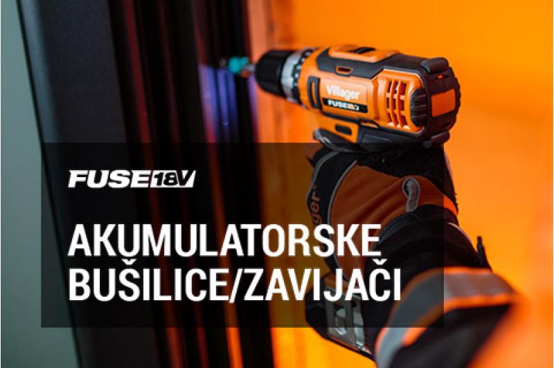 FUSE 18V akumulatorske bušilice i zavijači