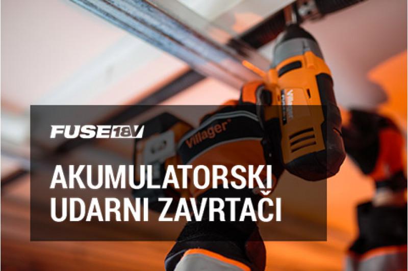 FUSE 18V akumulatorski udarni zavrtači