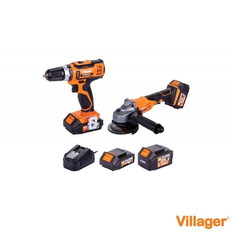 Fuse set akumulatorska busilica VLN 3220 + akumulatorska brusilica VLN 4320
