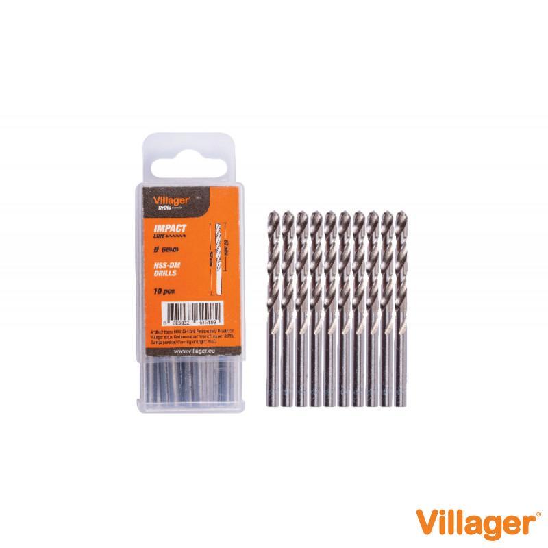 Burgija za metal Villager Impact Line HSS-DM 6 mm 10/1