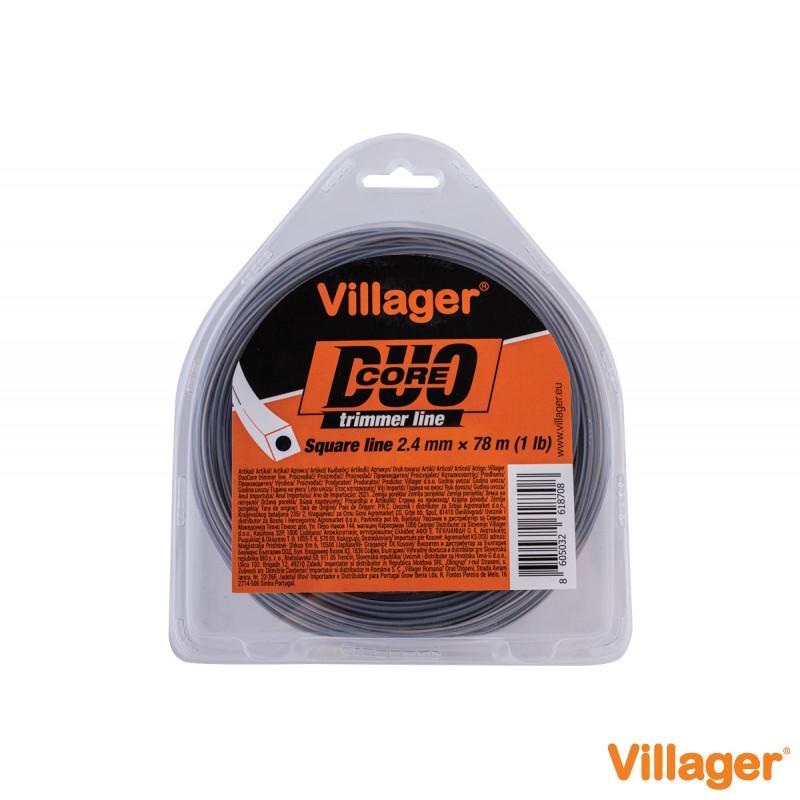 Silk za trimer 2.4mm X 1560m (20LB) - Duo core - Četvrtasta nit Villager